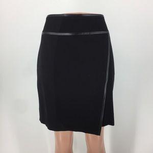 White House Black Market Vegan Leather Trim Skirt